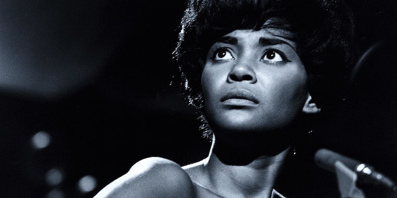 Black and white image of Nancy Wilson