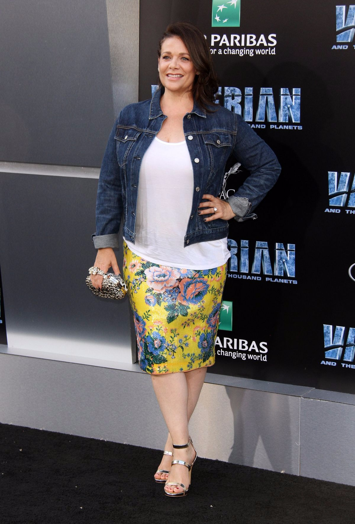 Meredith Salenger at the premiere of Valerian and the City of a Thousand Planets