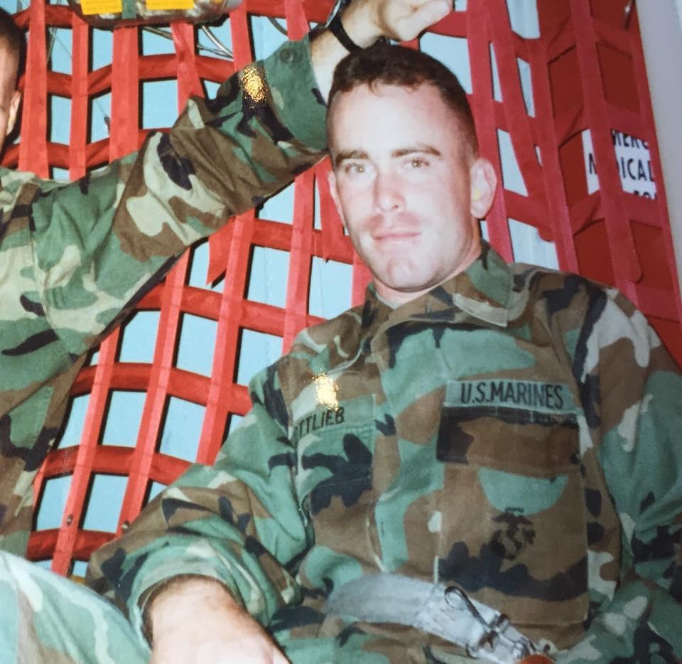 Craig Gottlieb is his US Marines uniform