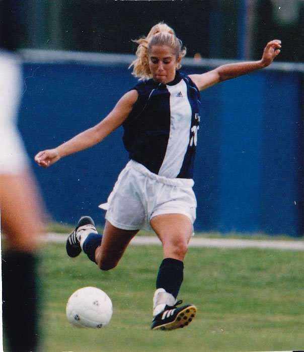 Former ESPN sportscaster Sara Walsh played soccer during her college days