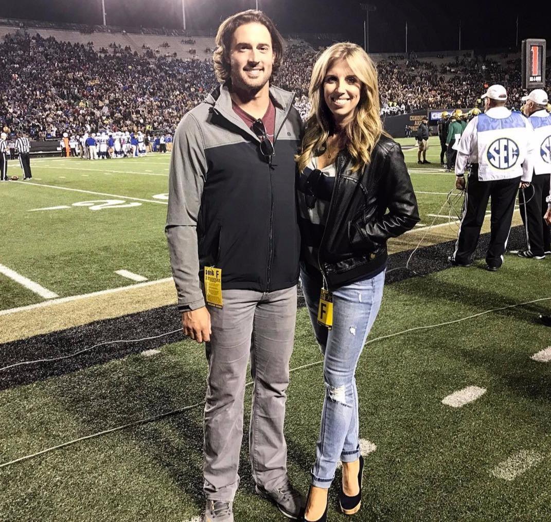Former ESPN sportscaster Sara Walsh and husband Matt Buschmann, professional baseball pitcher