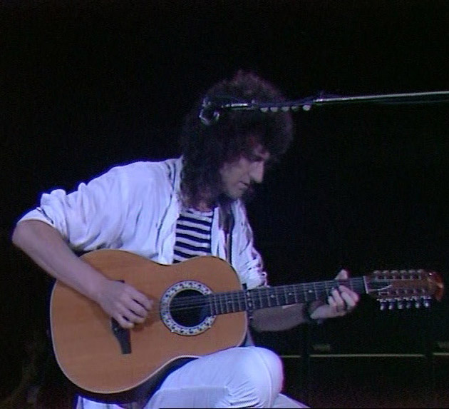 Brian May playing his Ovation Pacemaker 1615