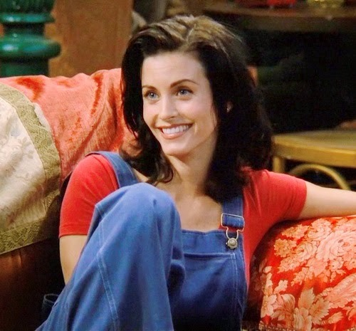 Courteney Cox in her role as Monica Gellar in Friends.