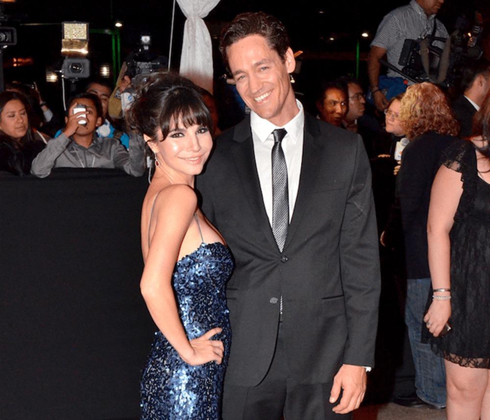 Martha Higareda seems very happy with her husband Cory Brusseau