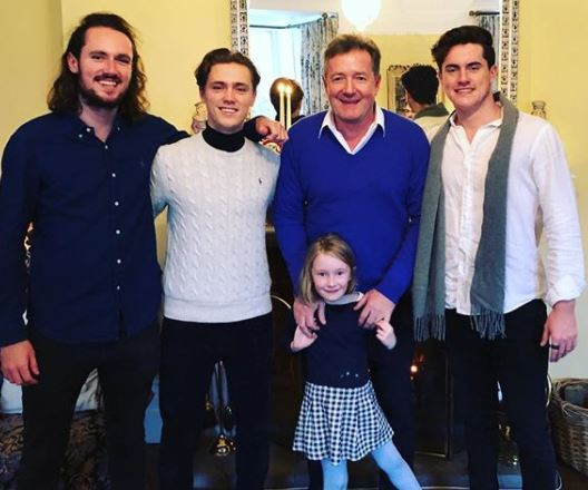 Piers Morgan Children, three sons and a daughter