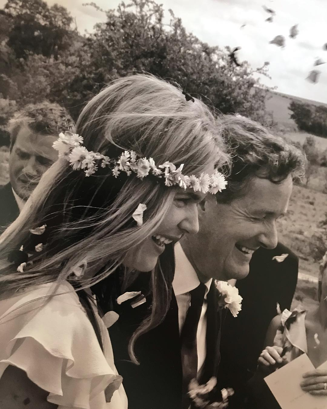Celia Walden and Piers Morgan both giving big smiles on their wedding day