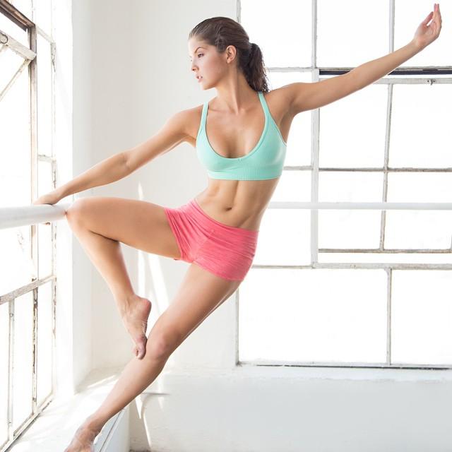 Amanda Cerny doing yoga
