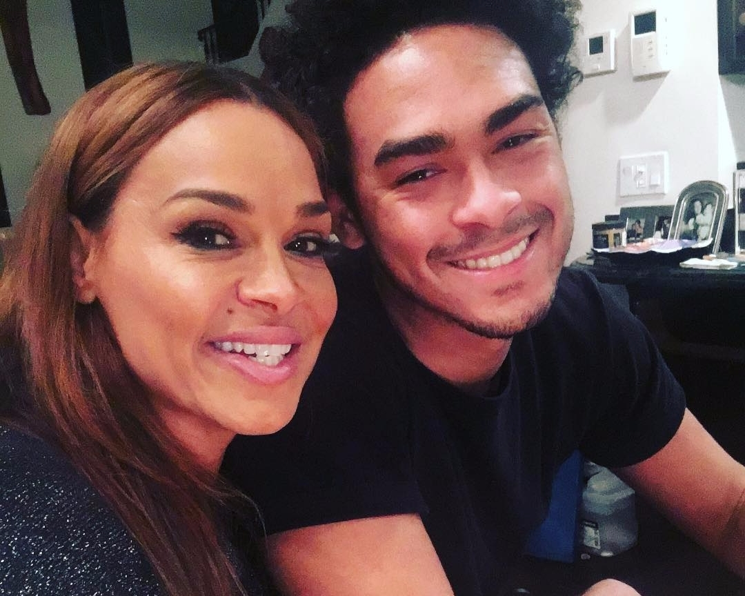 Sheree Zampino selfie with Trey Smith