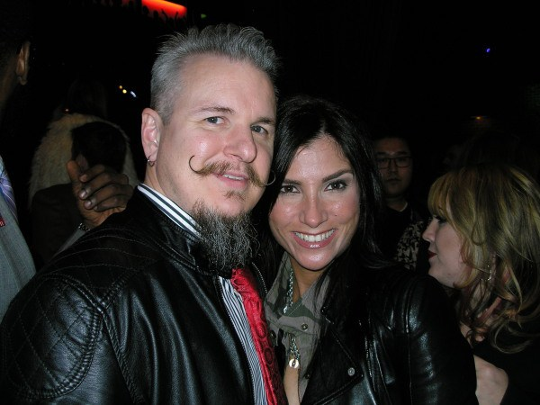 Both Dana and Chris Loesch rocking their black leather jackets