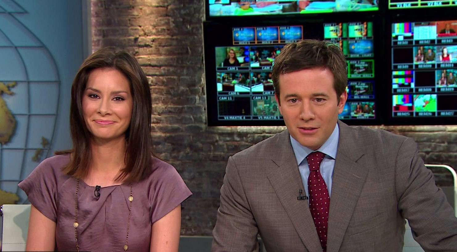 Rebecca Jarvis co-hosting the show 'CBS This Morning Saturday' with Jeff Glor. She served co-anchor of the show for about a year.