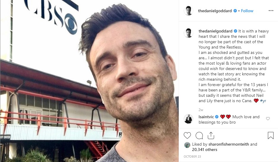 Actor Daniel Goddard on the set of CBS The Young and the Restless