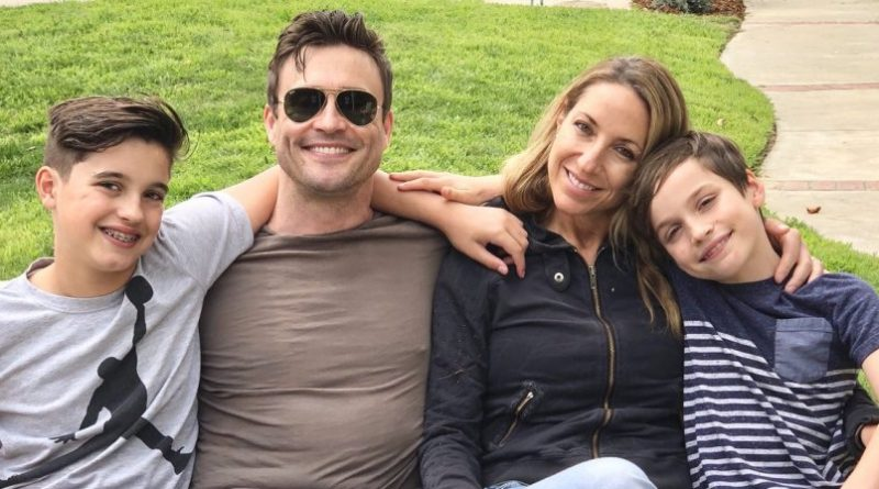 Actor Daniel Goddard with wife Rachael Marcus and two sons: Ford and Sebastian