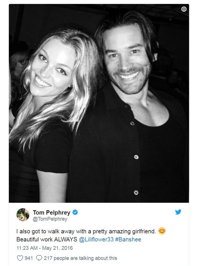 Lili Simmons with her boyfriend Tom Pelphrey