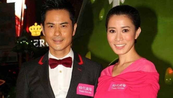 Charamaine Sheh and her former flame Kevin Cheng sharing a smile