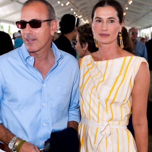 Matt Lauer with wife Annette Roque