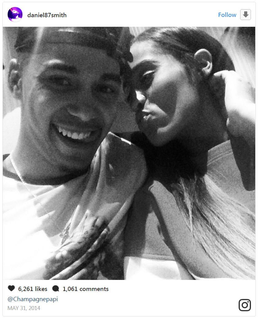 Skylar Diggins' boyfriend Daniel Smith shared a selfie of him with Diggins by her side to react to Drake's Instagram posts. He mentioned the rapper in the caption.