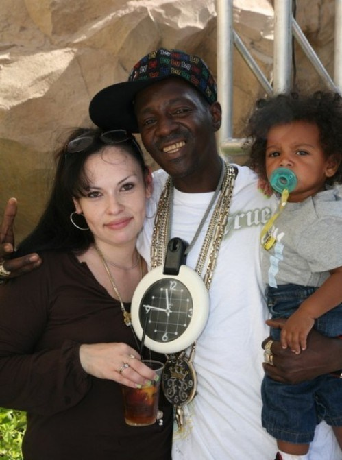 Flavor Flav with his wife and his youngest son