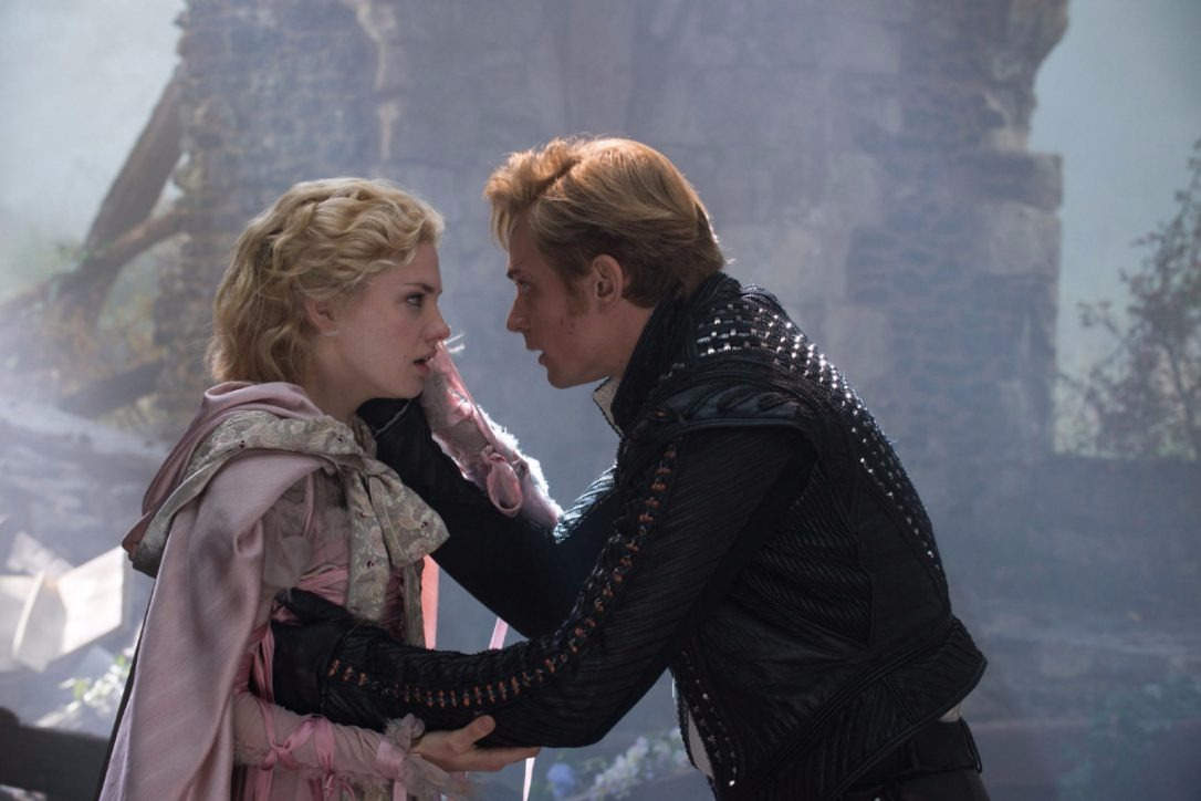 MacKenzie Mauzy played Rapunzel and Billy Magnussen played her prince in the movie Into the Woods.