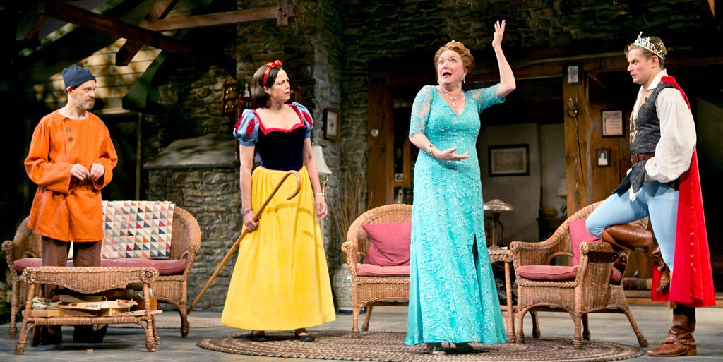 From right to left: Billy Magnussen, Kristine Nielsen, Sigourney Weaver and David Hyde Pierce in the play, Vanya and Sonia and Masha and Spike