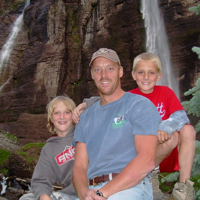 Greg Paul with his sons