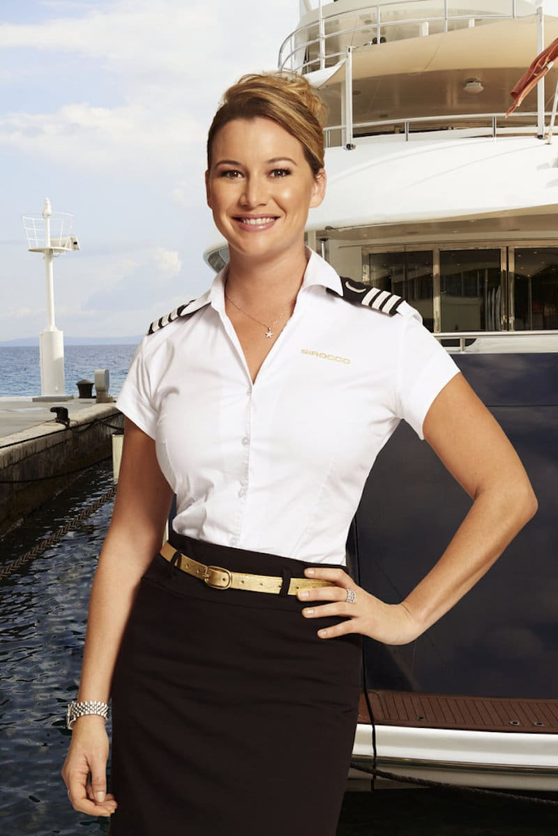 Chief Stewardess, Hannah Ferrier in TV show, Below Dock Mediterranean on Bravo TV