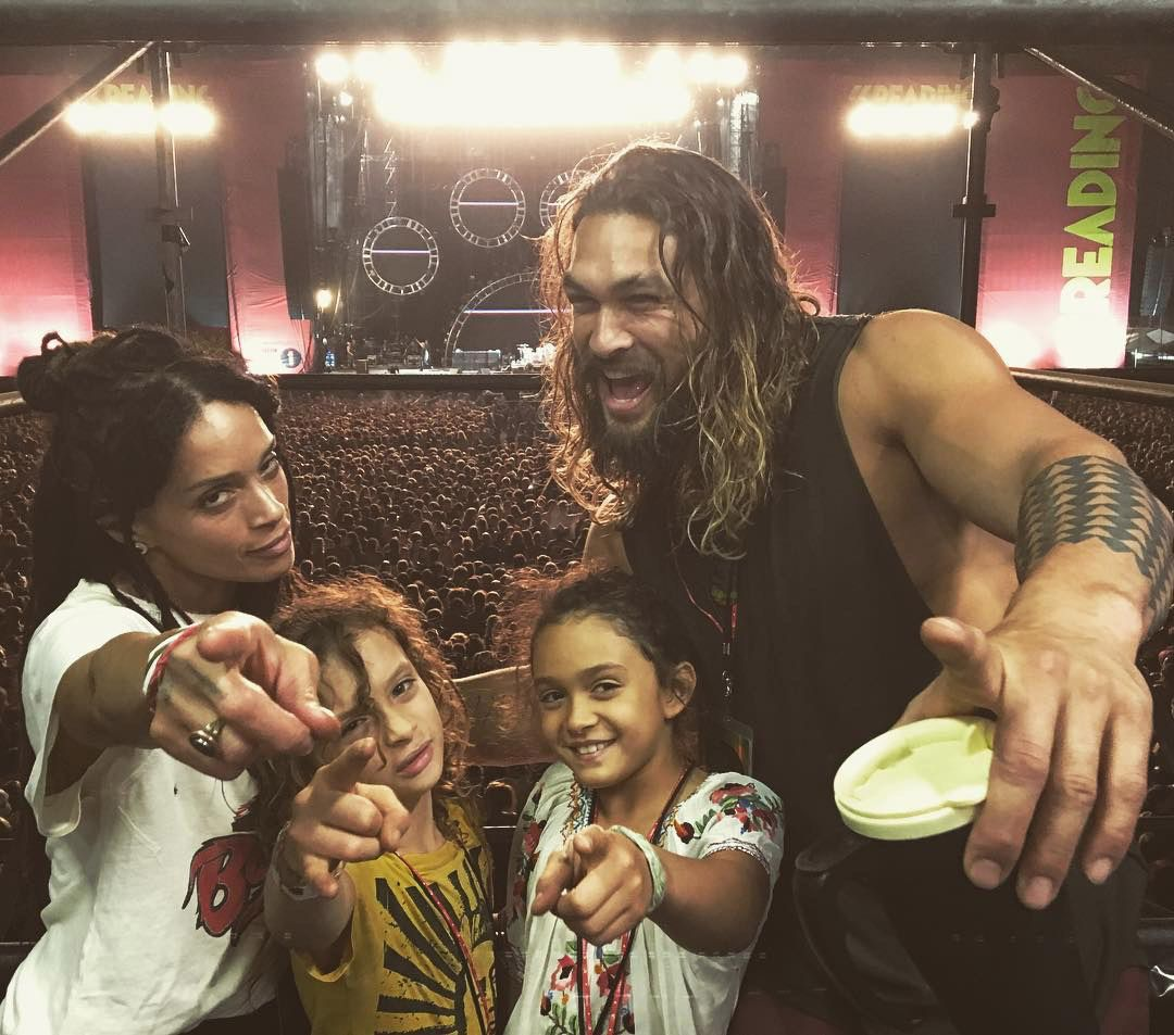 Jason Momoa with his family at a concert