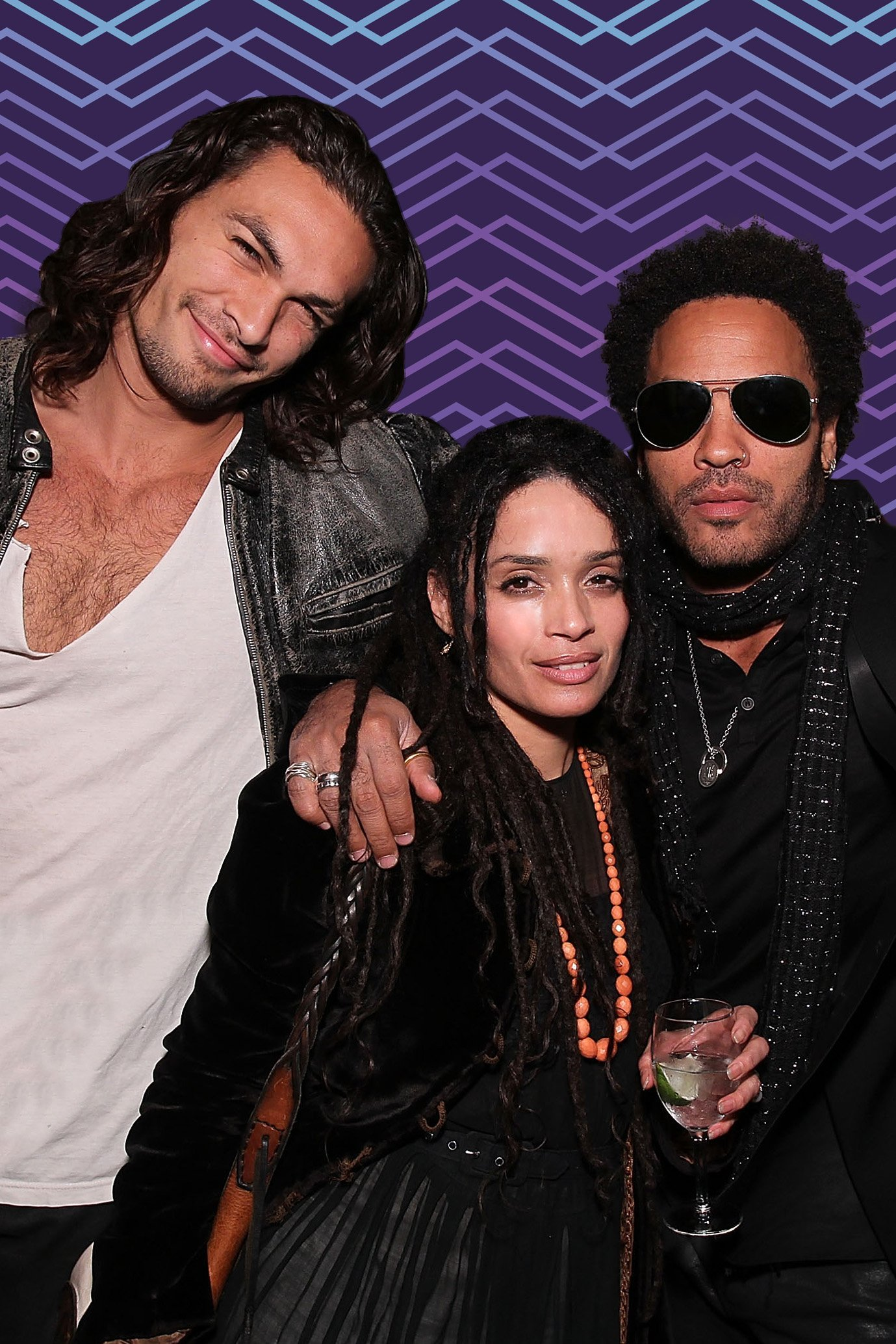 Lisa, Jason and Lenny Kravitz posing for a picture together