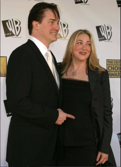 Brendan Fraser and wife Afton Smith attend Annual Critic's Choice Awards in 2006