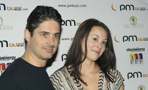 Zach Galligan with his wife Ling Ingerick.