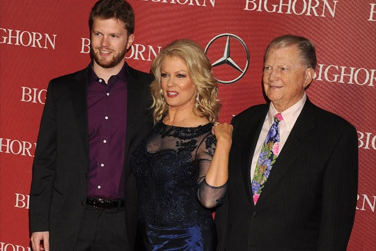 TV personality Mary Hart with her husband, Burt Sugarman and son, Alec Jay. The family of three is attending an event.