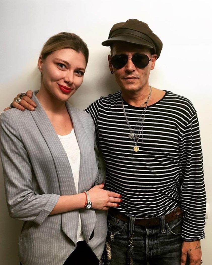 Johnny Depp with his fan