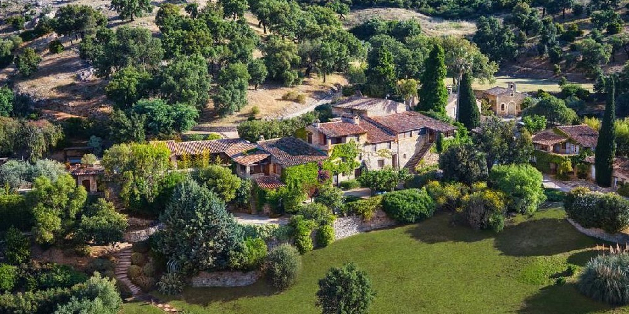 Depp's 37-acre property in the south of France.
