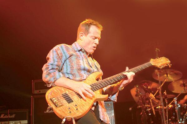 John Paul Jones playing Manson JP 10 String Custom