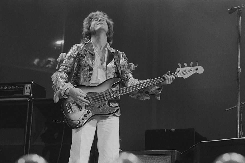 John Paul Jones is playing 1968 Hagström H8 Bass