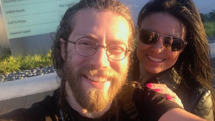 "Joshua ""Bam Bam"" Brown taking a selfie with his girlfriend, Allison Kagan"