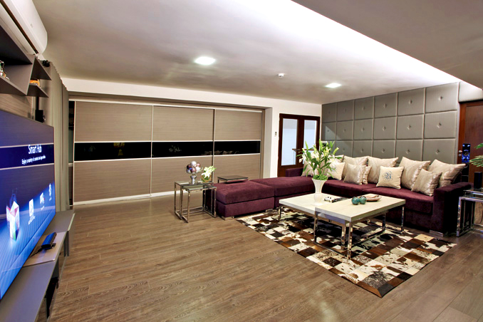 The entertainment area in Bea Alonzo's house