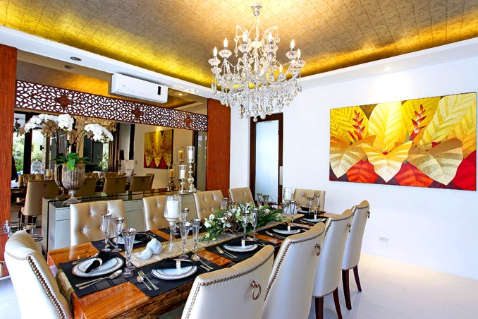 The dining room of Bea Alonzo's house.