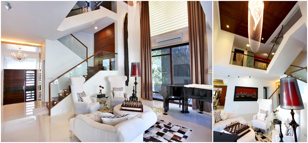The living room of Bea Alonzo's house in Quezon City.