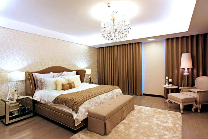 The master bedroom of Bea Alonzo's house