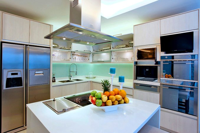 The kitchen of Bea Alonzo's house