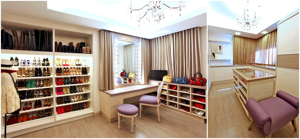 The walk-in closets in Bea Alonzo's house