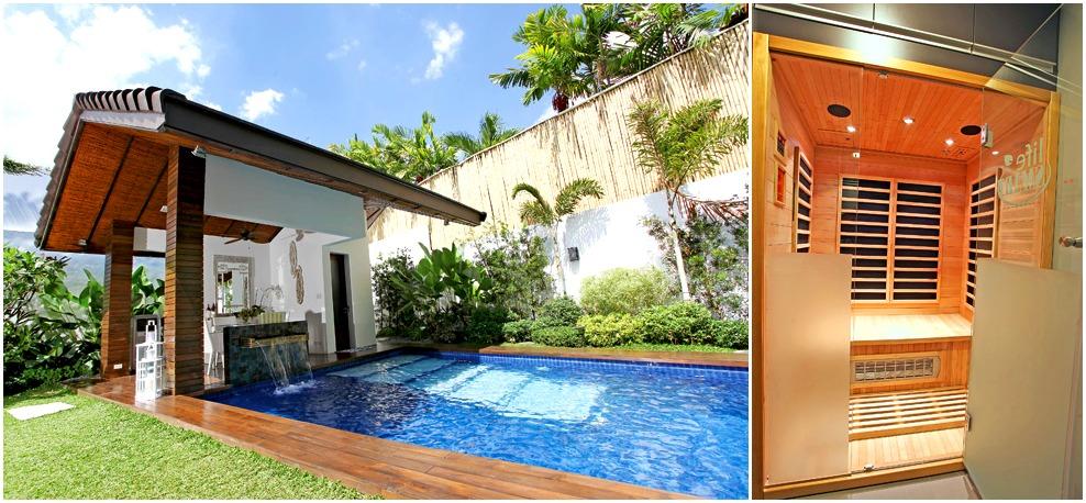 Bea Alonzo's house has an outdoor pool and sauna