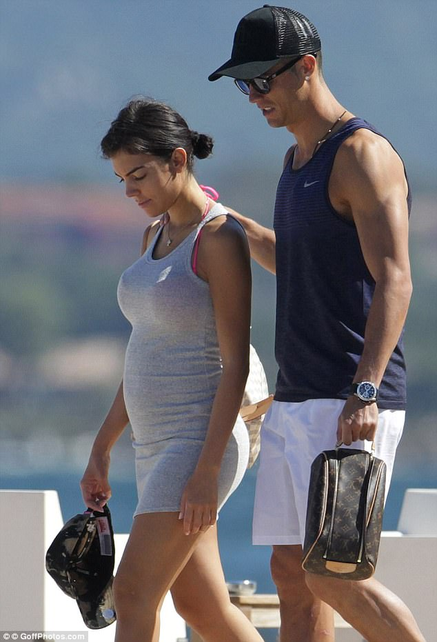 Cristiano Ronaldo and girlfriend Georgina Rodriguez take a walk.