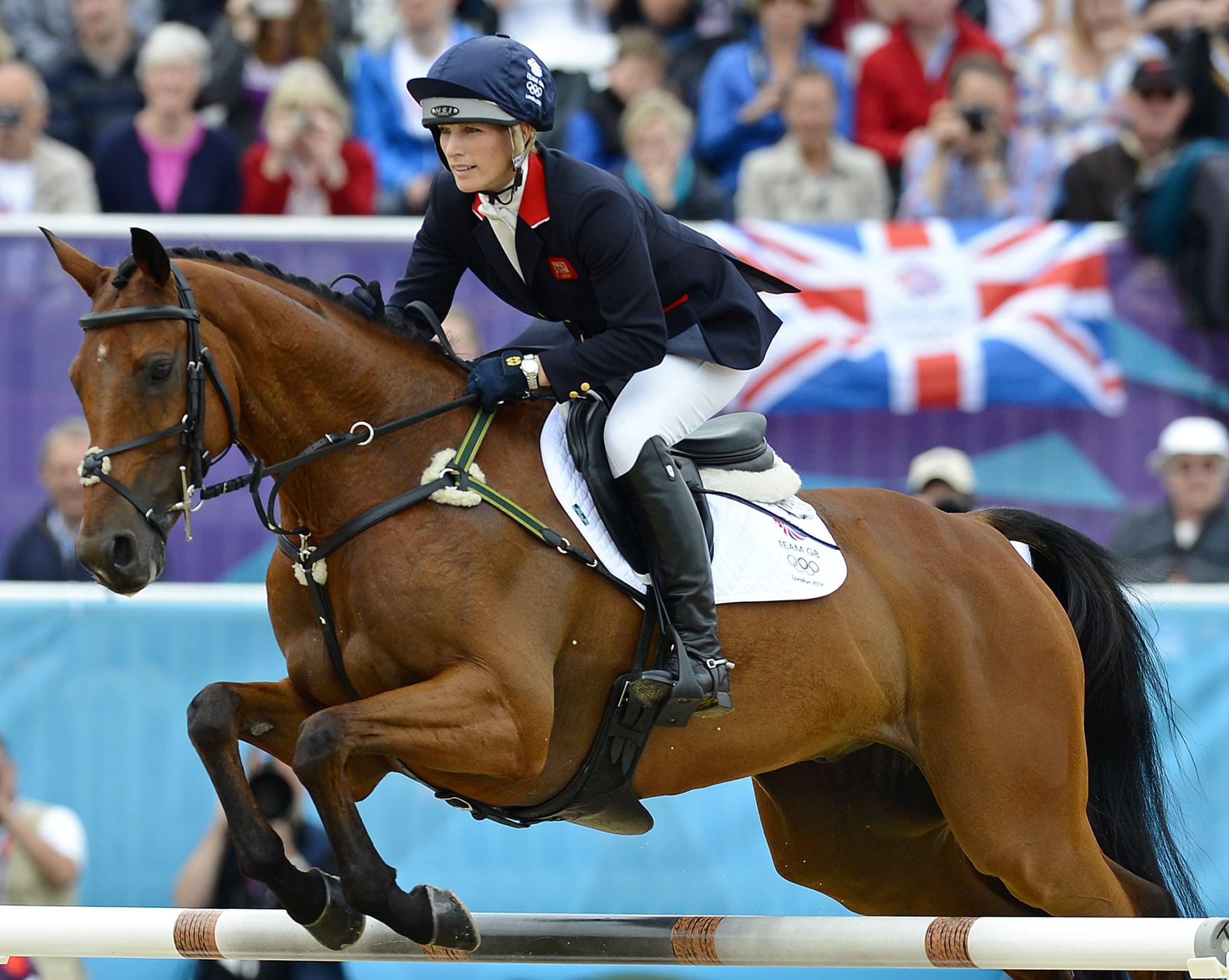 Zara Philips riding a horse
