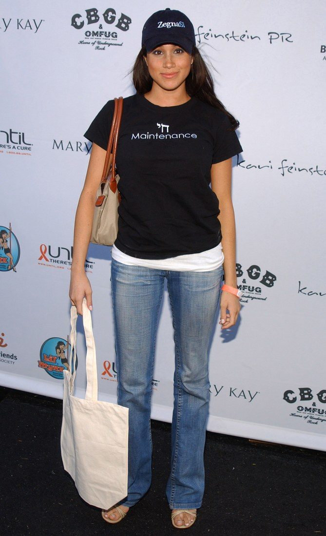 Meghan Markle attending Kari Feinstein Pre-Emmy Style Lounge in 2005 in Los Angeles, California