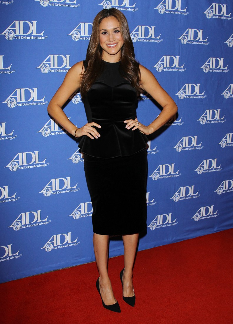 Meghan Markle attending the ADL Entertainment Industry Awards dinner at The Beverly Hilton hotel on October 11, 2011.