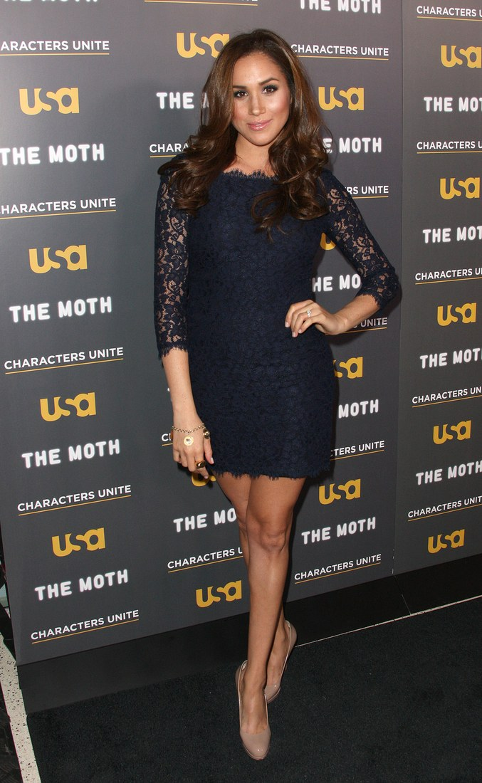 Meghan Markle arrives at the USA Network's & The Moth's Storytelling Tour at Pacific Design Center on February 15, 2012 in West Hollywood, California.