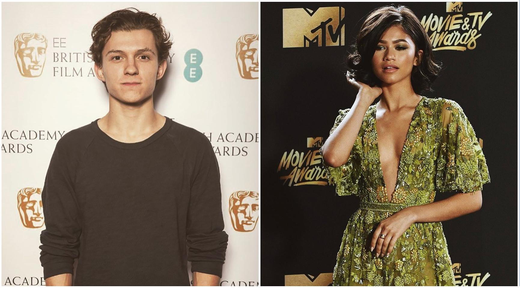 Tom Holland (left) , rumored girlfriend Zendaya (right)