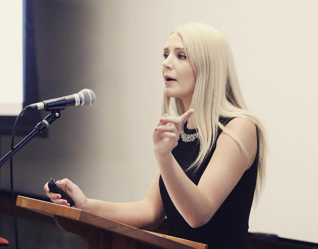 Lauren Southern on speaking on the stage.