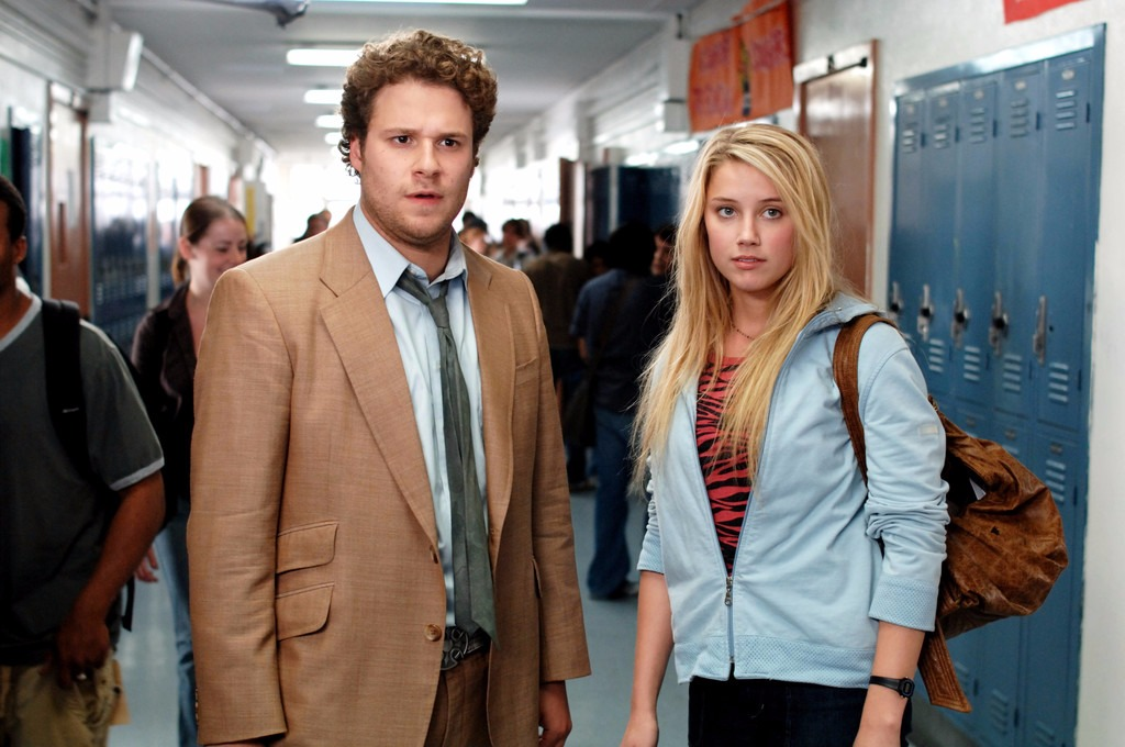 Amber Heard and Seth Rogen in character in the movie Pineapple Express